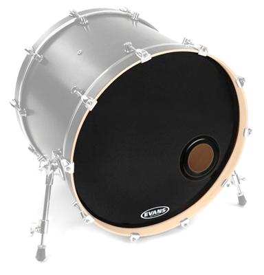 Evans - 24' E-Mad Reso Bass Drum BK