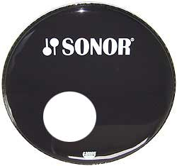 Sonor - 24' Front Head Black with Hole