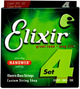 Elixir - Nanoweb Light Bass Guitar