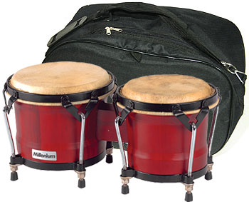 Millenium - HB 202HWR Bongo Set + Gig Bag