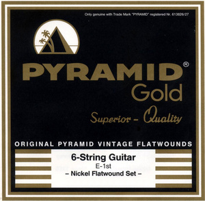 Pyramid - Gold Medium/Heavy Flatwound