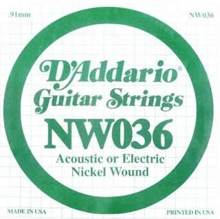 Daddario - NW036 Single String