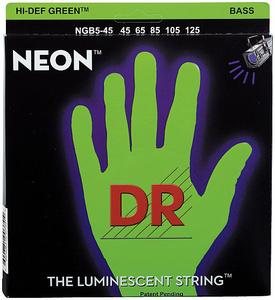 DR Strings - NGB-45-5 Strings Set Neon GN