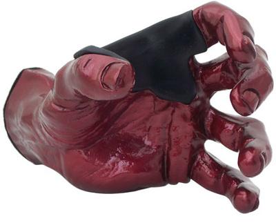 Guitar Grip - Red Metallic Male Hand left