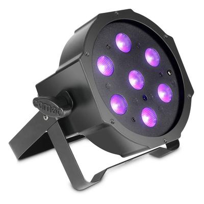 Cameo - Flat PAR Can 1 UV 7 x 3W IR BK