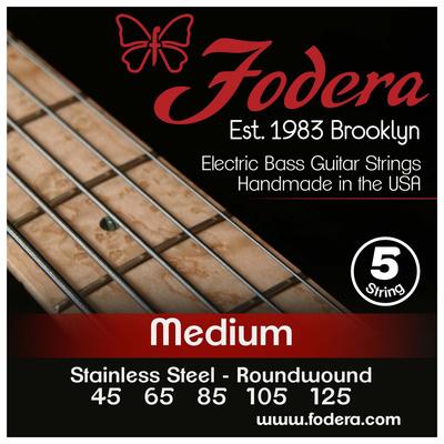 Fodera - 5-String Set Med SS XL Taper B