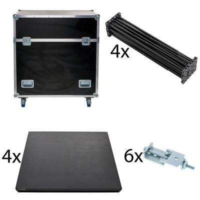Stairville - iX Stage 4x 1x1 60cm w. Case