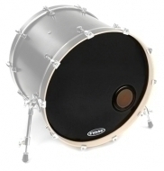 Evans - 24' E-Mad Reso Bass Drum BK