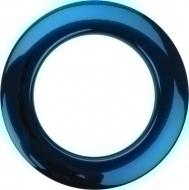 Bass Drum O's - 2' Blue chrome round HCB2