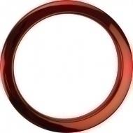 Bass Drum O's - 4' Red Chrome round HCR4