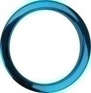 Bass Drum O's - 4' Blue Chrome round HCB4