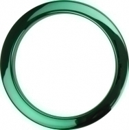 Bass Drum O's - 4' Green Chrome round HCG4