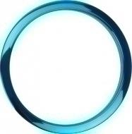 Bass Drum O's - 6' Blue Chrome round HCB6