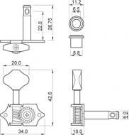 Harley Benton - Parts Machine Head Open 3/3
