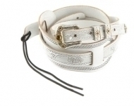 Gretsch - Leather Tooled Retro Strap WH