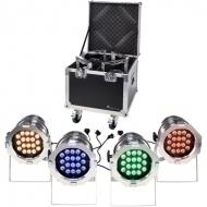 Stairville - LED Par 64 CX-6 Tourpack 4 S