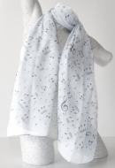 Musikboutique Hahn - Scarf Sheet Music White